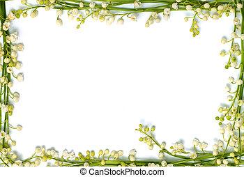 údolí, lilie, konstrukce, osamocený, noviny, grafické pozadí, vodorovný, květiny, hraničit