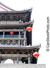 číňan, starobylý, budova