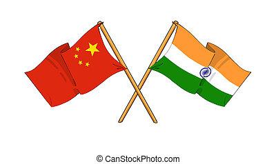 Čína a spojenci a přátelství