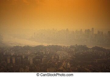 čína, asie, chongqing