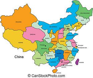 Čína s administrativními obvody