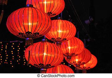 Čínská červená lampa