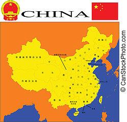 Čínská mapa.