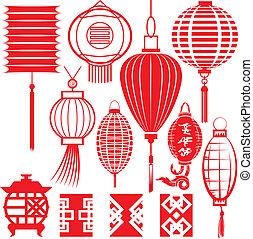 Čínská sbírka lamp