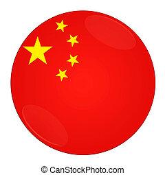 Čínský knoflík s vlajkou