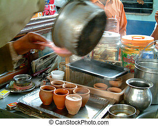 čaj, porce, chai