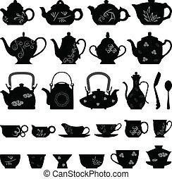 Čajový čajový čajový pohár asijský orientál