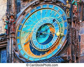čech, astronomický, praha, republika, hodiny