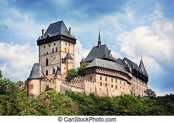 čech, karlstejn, panoramatický, republika, věž, názor