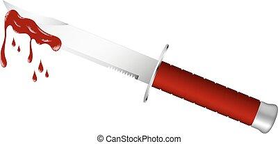 čepel, nůž, krvavý