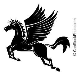 čepobití, kůň, křídlo