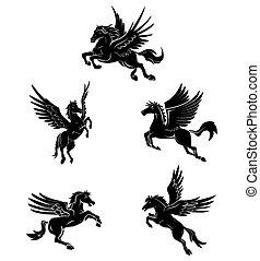 čepobití, znak, kůň, křídlo