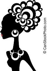 Černá žena, vektor