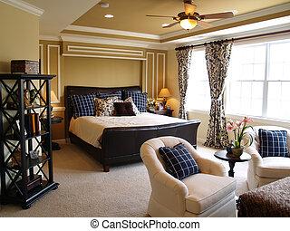 Černá a modrá ložnice