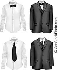 Černé obleky a bílé košile