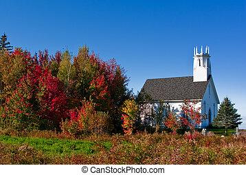 čerstvý, podzim, církev, brunswick