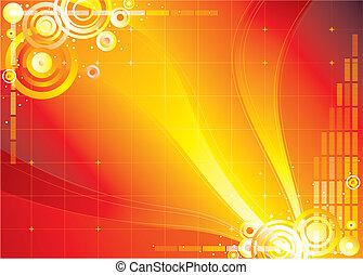 červeň, barva grafické pozadí, nekonečnost