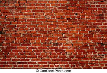 Červená cihlová zeď