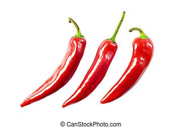 Červené chilli paprika