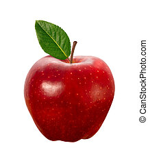 Červené jabloňové pole izolované střídačkou