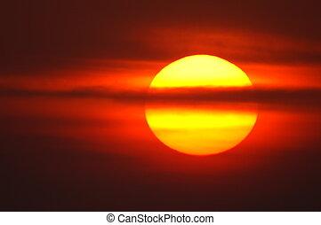 Červené slunce