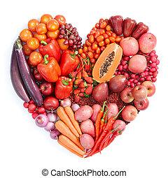 Červené zdravé jídlo