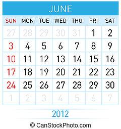 červen, kalendář