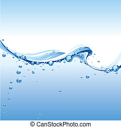Čistá voda s bublinami