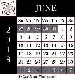 Čtvrť 2018 kalendáře