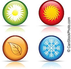 Čtyři roční ikony