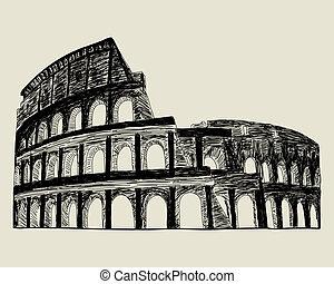římský, coliseum.