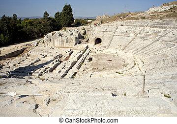 Řecké divadlo, neapolis of syracuse