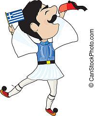 řek vlaječka, evzone, tančení