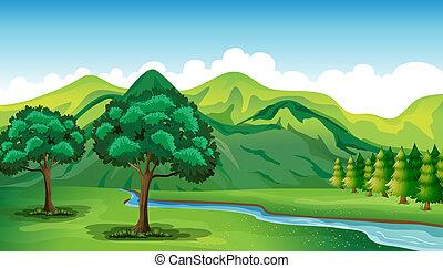 Řeka a krásná krajina