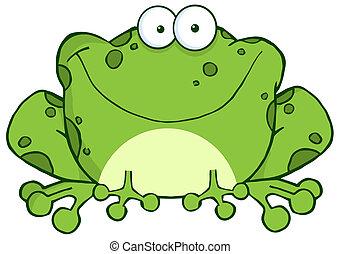 Šťastná žábová postavička