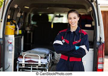 Šťastná ženská zdravotní sestra