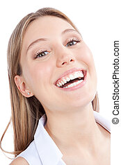 Šťastná mladá žena