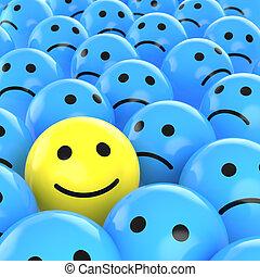 Šťastný úsměv mezi smutnými