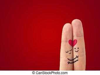 Šťastný pár zamilovaných