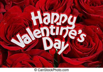 Šťastný Valentýn na růžích
