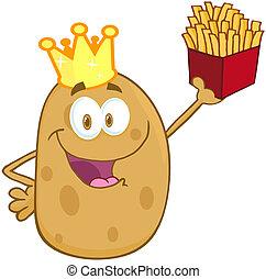 Šťastnou bramboru s korunou