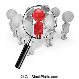 šikovný, hledání, národ, -, zaměstnanec, 3