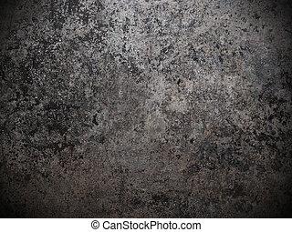 Špinavé kovové, černé a bílé pozadí