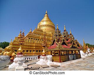 Šwezigonová plata pagoda, metro v pytli
