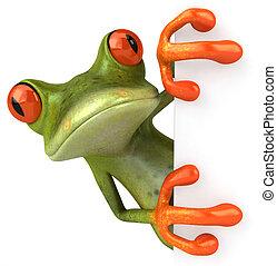 Žabák s prázdným nápisem