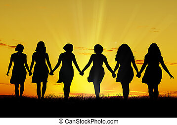 Ženy jdou ruku v ruce