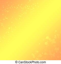 Žlutá pozadí s bokeh a hvězdy pro design