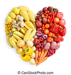 Žluté a červené zdravé jídlo