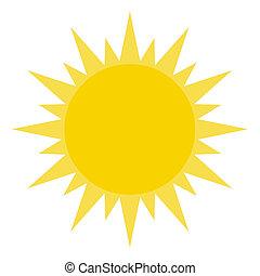 Žluté slunce svítí