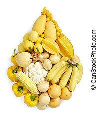 Žluté zdravé jídlo